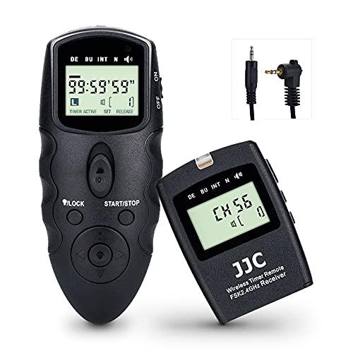 JJC Mando a distancia inalámbrico con cable de liberación de obturador cable intervalómetro para Canon EOS R6 R RP M6 M6 Mark II M5 EOS 200D II 250D 90D 800D 800D 760D 750D PowerShot G5 X G3 X