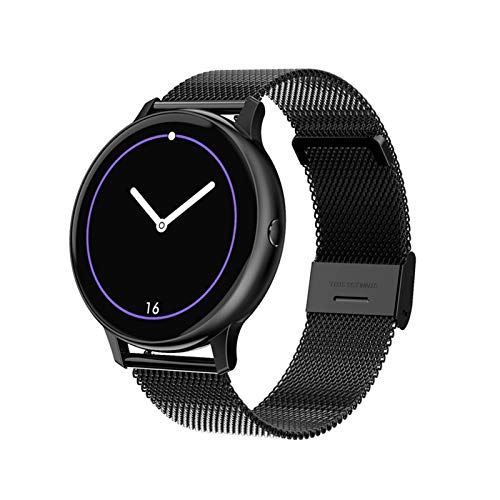 XXY Smart Watch HD Screen ECG Oxygen ECG Monitor De Ritmo Cardíaco Muñeca Control Music Modos Multi-Sport Watch Smart Watch (Color : Black Steel)