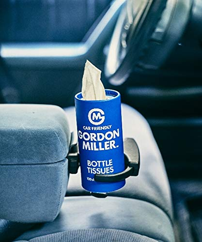 GORDON MILLER ボトルティッシュ スリム 車 ドリンクホルダーに入るサイズ 繊維ホコリが飛び散りにくい竹パルプ ブルー 1485374