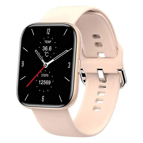QFSLR Smartwatch, Reloj Inteligente Mujer Hombre con Oxigeno(Spo2), Monitor De Presión Arterial Contador Caloría Pulsómetros Pulsera Actividad Inteligente para Android Y iOS,Rosado