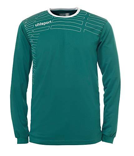 uhlsport - Match Team Kit L/S, Color Verde,Negro, Talla XXXS