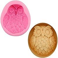 Mystery&Melody Lindo 3D Forma de búho de Silicona Molde de Pastel de Chocolate Fondant para Hornear Molde de Silicona Herramienta de moldes