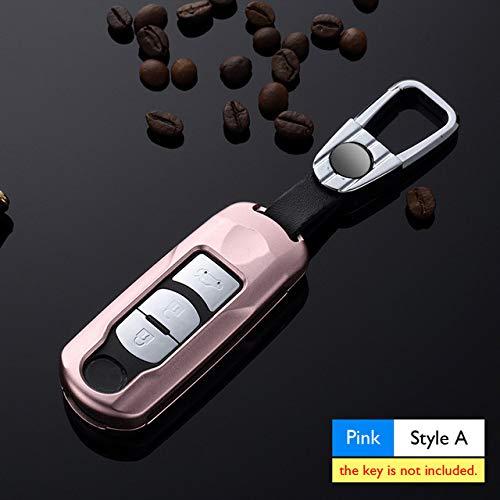 MISDHAutoschlüssel-Koffer aus Aluminiumlegierung, für Mazda 3 Atenza 5 MX-5 Axela CX-5 CX-7, 6 Schlüsselbundtasche Smart Remote Fob Shell Cover Protect Frame