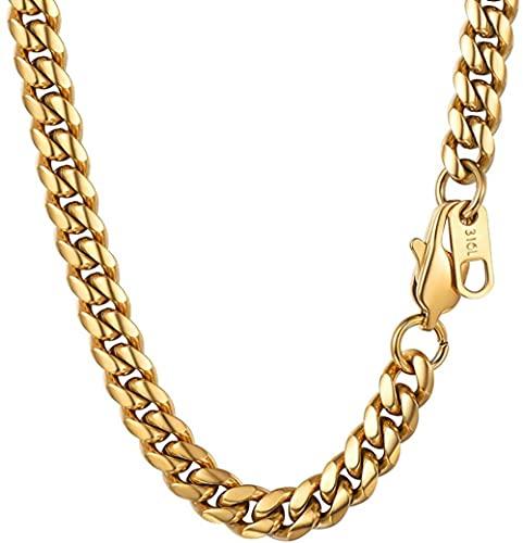 HUIQ® Gold KAMINen Halskette Männer 6mm 66cm Ältere Jungen Gold Nackenkette