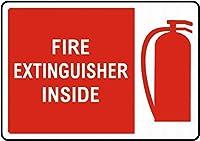 消火器の中ブリキ看板ヴィンテージ錫のサイン警告注意サインートポスター安全標識警告装飾金属安全サイン面白いの個性情報サイン金属板鉄の絵表示パネル