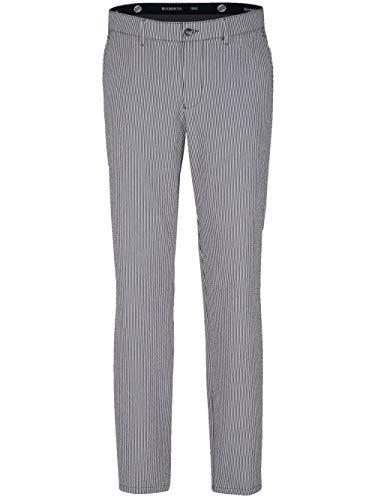 BABISTA Herren Straight Fit Lange Hose in Marineblau aus Baumwolle in sommerlicher Seersucker-Qualität