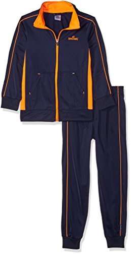 Spalding Big Boys' Tricot Two Piece Sweatsuit, Dark Navy, 10/12