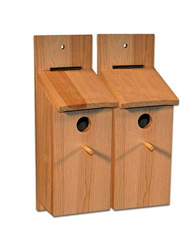 BigDean 2 Stück Nistkasten Sebstbauset Vogelhaus Vogelhäuschen Nisthaus Meisenhaus Kleinvögel Meisenkasten Bausatz