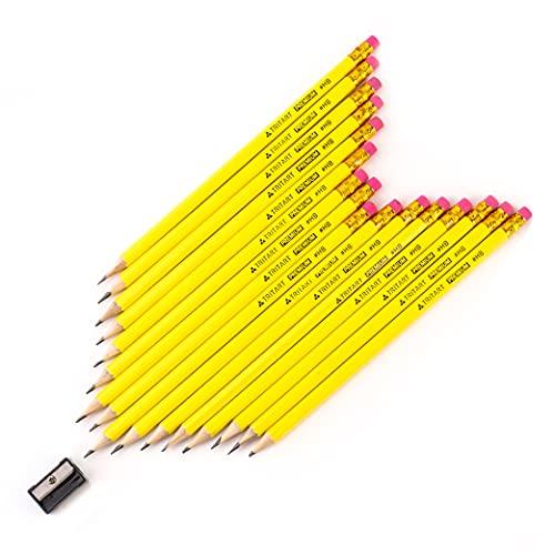 Tritart Bleistifte | 160 Bleistifte mit HB Mine + Radiergummi | HB Bleistift Set mit angespitzter Mine für Schule + Büro + Skizzieren | Holz-Bleistifte zum Zeichnen + Schreiben