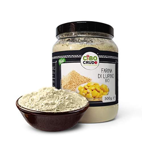 CiboCrudo Farina di Lupino Biologica, Naturalmente Priva di Glutine, Proprietà e Valori Nutrizionali Integri, Contiene Aminoacidi Essenziali, per Ricette Salate – 500 gr