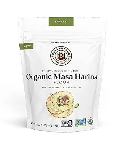 King Arthur Masa Harina, Certified Organic, No GMO Project Verified, Gluten Free, 2 lb