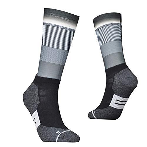 Jinqiuyuan Tela de Fibra Calcetines de Ciclismo Profesional de Bicicletas Equipo Aero Calcetines Bicicleta del Camino Anti Slip compresión Deporte del calcetín