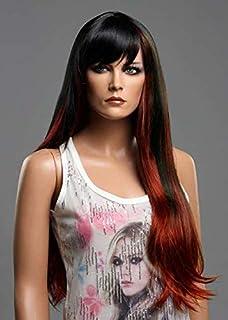 Forever Young Ladies - Extra longue perruque de mode droite, mélange de vin rouge