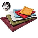 YouthUnion Colchoneta Cama para Mascota, Almohada Invierno Lavable Higiénica Suave para Perros Gatos Caliente Cálida (S, Vino)