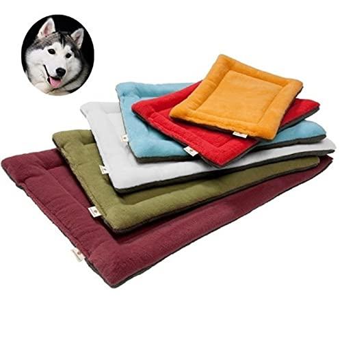 YouthUnion Colchoneta Cama para Mascota, Almohada Invierno Lavable Higiénica Suave para Perros Gatos Caliente Cálida (XL, Verde)