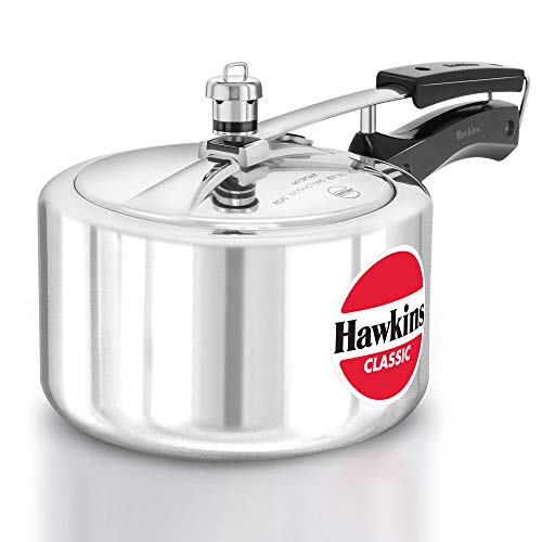 HAWKIN Classic CL3W 3-Liter New Improved Aluminum Wide Mouth Pressure Cooker, Small, Silver