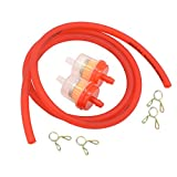 Gas Hose Line Fuel Filter Spring Clips for 110cc 50cc 125cc 150cc Kazuma Meerkat Redcat Falcon Taotao ATV Dirt Bike Scooter Quad Hammerhead twister 150 GTS Buggy Go Kart Parts Red