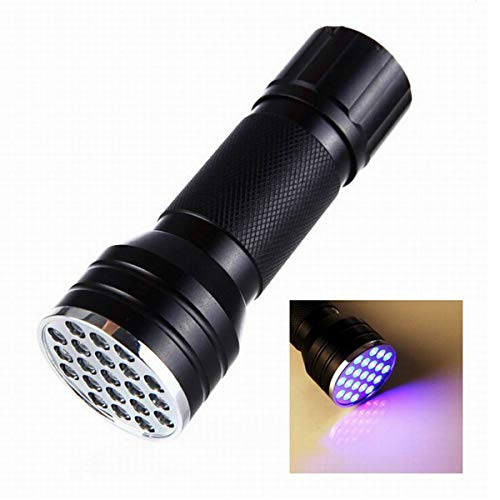GJNWRQCY Two Packs 21 LEDs 395-400NM UV Blacklight Flashlights Detector for Pets Urine and Stains