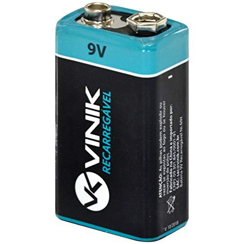 Bateria 9v Recarregável 250 Mah Blister Pr9v, Vinik, 25602