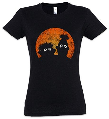 Urban Backwoods E & B Puppets Damen T-Shirt Schwarz Größe S