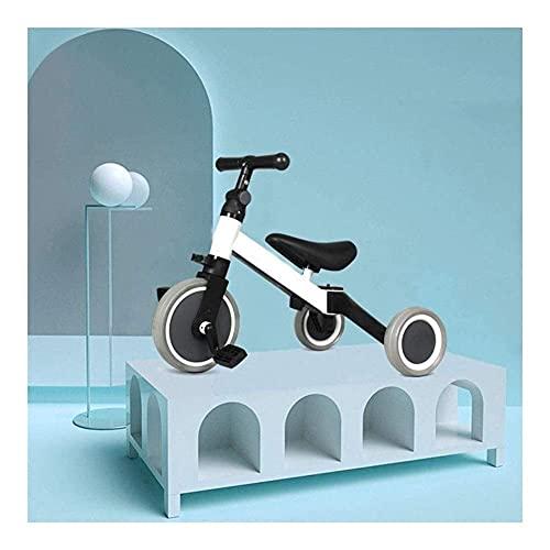 TRIKES TRIKE BAMBINI TRICICLE 3 IN 1 BAMBINI TRIKE PER 1-3 ANNI BAMBINI Ragazzi Ragazze Toddlers Triciclo 3 Ruote Baby Bilancia Bike Lightweight Pieghevole TRIKE Bilancio regolabile Bilanciamento Sedi
