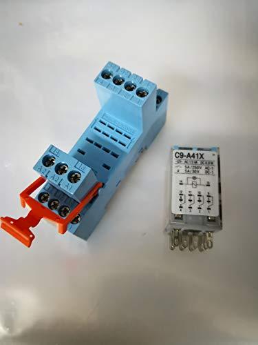 Releco c9-a41x - Rele miniatura 4 contactos estandar 240vca led
