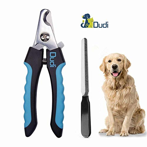 Dudi Dog Nail Clippers and Trimmer  with Quick Safety Guard to Avoid OverCutting Toenail  Grooming Razor Sharp Blades for Small Medium Large Breeds Blue