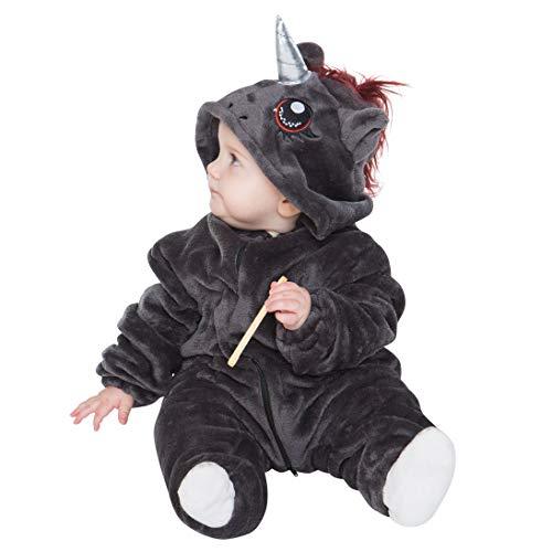 corimori- Ruby el Unicornio Punk (6+ Modelos) Ropa de Dormir Disfraz Animal Bebé, Color negro, rosa, Talla 60-70 cm (1850) , color/modelo surtido