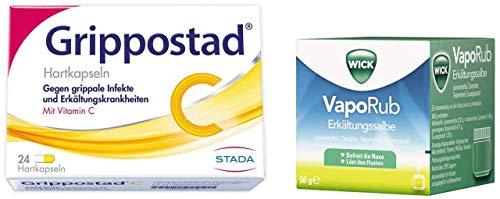 Sparset Erkältung Grippostad C 24 Kapseln plus WICK VapoRub 50 g Erkältungssalbe