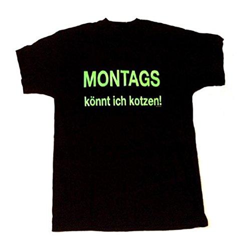MONTAGS Könnt Ich Kotzen - Fun T-Shirt - Größe Size XXL