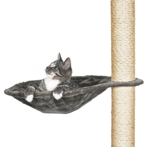 Trixie 43542 Hammock Style Seat for Cat Tree Metal Frame ・40 cm Platinum
