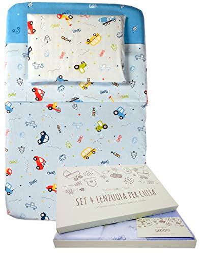 GOYSILA Lenzuola Next To Me Compatibili Chicco Next2Me Set 4 pezzi Cotone 100% Oeko-Tex Materasso 83x50 Completo Culla Cosleeping Lenzuolini Angoli Lettino Neonato Bambino Dream Cullami Kinderkraft