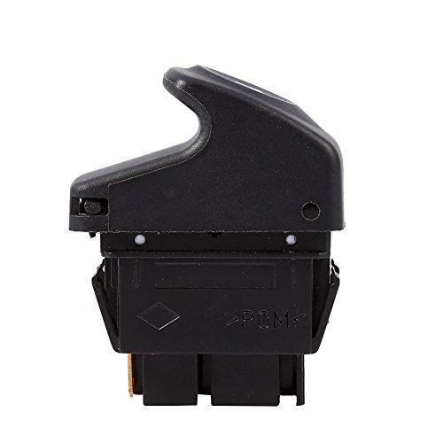 Keenso 7700838101 - Interruptor de elevalunas eléctrico (6 clavijas, botón de elevación de ventana, interruptor de control de espejo lateral profesional para VRenault Clio II 2 Megane I Kangoo