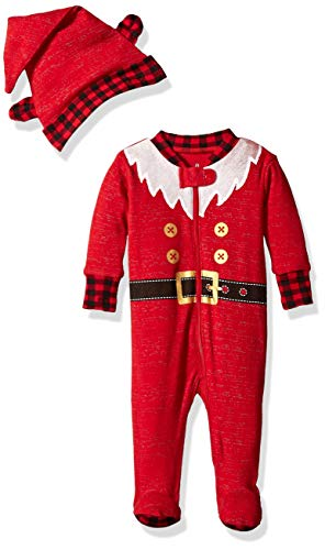 Petit Lem Girls Holiday Baby Footed Sleeper Cute and Cozy Softness Comfy