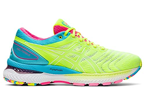 ASICS Women's Gel-Nimbus 22 Running Shoes, 9.5M, Safety Yellow/Safety Yellow