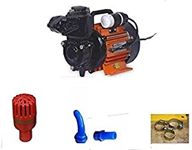 Kirloskar Jalraaj 0.5 HP Water Pump Ideal For Bungalow,Garden,Flats Etc + Pipe Fittings (Ready To Fit)