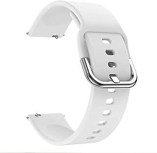 سوار ساعة سيليكون من لايجر متوافق مع أجهزة سامسونج أكتيف 2 و 42 ملم لون أبيض