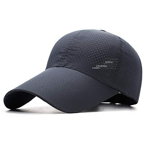 sdssup Sombrero de Hombre Visera de Moda de Verano Protector Solar de Mediana Edad Gorro Transpirable Gorra de béisbol de Ocio al Aire Libre 4 Ajustable