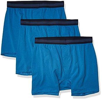 Amazon Brand - Goodthreads Men s 3-Pack Cotton Modal Stretch Knit Boxer Underwear Sea Blue XXX-Large