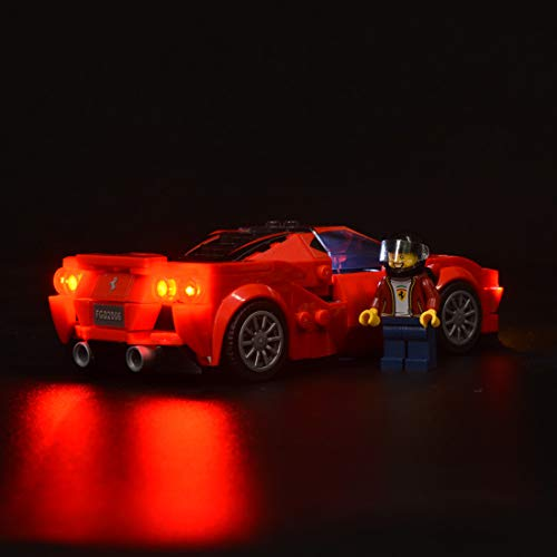 POXL LED Beleuchtungsset für Lego Speed Champions Ferrari F8 Tributo - LED Licht für Lego 76895 - Ohne Lego Set