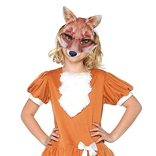 Yeah-hhi Máscara Animal De Halloween Máscara De Zorro Realista para Fiesta, Cosplay, Mascarada, Accesorios De Disfraces, Hombre,...