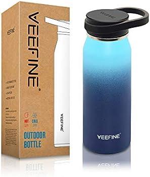 VEEFINE 32 oz Vacuum Insulated Stainless Steel Water Bottle