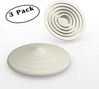 Door Stopper | Low-Profile All-Purpose Circular Door Stop Holds Doors Open Without Getting in The Way | All Grip Design Works On All Doors and Surfaces | Gray 3 Pack