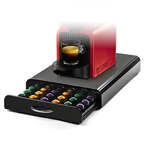 Home Treats Nespresso Kapselaufbewahrung–Kaffee-Kapselhalter für 60 Kapseln, Schwarzes Metall