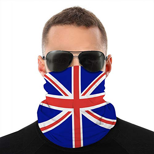 ncnhdnh Unisex Microfiber Neck Gaiter Shieldask Dust Bandanas Cover Flag Great Britain Official State Fleece Shield Cover