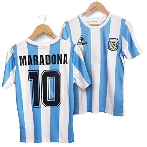 Ysimee Diego Maradona Nr. 10 Argentinien Heimfußballtrikot, 1986 WM Klassisches Vintage Argentinien Trikot, Polyesterfasermaterial, Weine Nicht um Mich Argentinien
