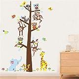 WYLD Wandaufkleber Cartoon Dschungel Wilden Baum Wandaufkleber Kinder Küche Esszimmer Bar Dekoration Bild Für Malerei Poster
