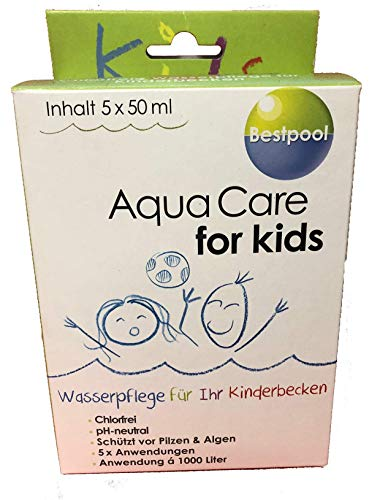 Bestpool Aqua Care for Kids 5 x 50 ml Die Wasserpflege Fuer Ihr Kinderbecken