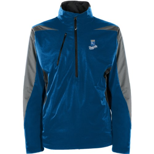 Antigua MLB Herren Jacke Kansas City Royals Discover Jacket, Herren, Dark Royal/Smoke/Steel, Large