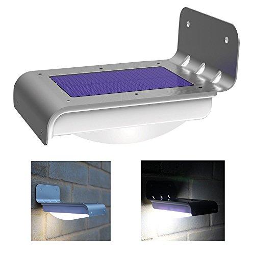 Frostfire 16 helle LEDs, kabellos, solarbetrieben, Bewegungsmelder, wetterfest, keine Batterien erforderlich